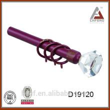 D19120 curtain rod crystal drapery finials,decoration crystal curtain rod finial,curtain rod accessories