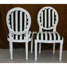 commercial dining round back chair / strip black chair XY0138