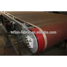 SGS passou ptfe teflon superfície de revestimento de fibra de vidro cinto de malha aberta cinto de malha de teflon