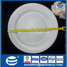 durable white ceramic 12 inch round food serving plate