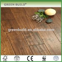 Handscraped oak engineered wood flooring