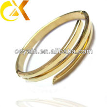 the latest design stainless steel bangle with gold plating