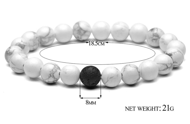 black and white bead bracelet