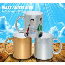 Sublimation gold /silver pearl mug wholesale