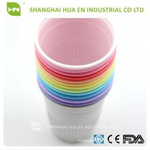 White plastic 5oz dental disposable cups