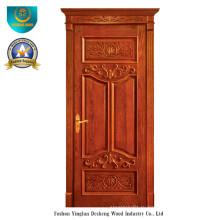 Европейский Стиль твердой древесины двери с Ромой (ДС-025)