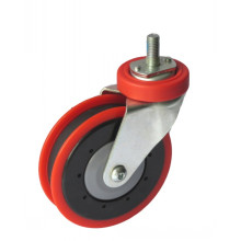 "5"" Bolt Hole Type Rigid Shopping Cart Caster (one groove)"