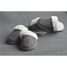 suede quiet women/men indoor outdoor warm soft slipper plush slipper