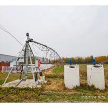 Riego por pivote central con sistema de fertilización