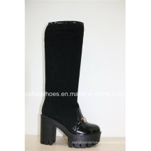 Fashion Comfort High Heels Lady Leather Warm Boots