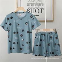 Womens Pajamas Women Set Casual Shorts Short Sleeve animal Print Cotton T-Shirt Sleepwear Nightwear Set
