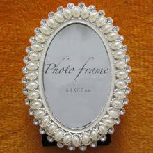 Braut Oval Perlen Hochzeit Fotorahmen