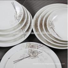 2015 placas al por mayor de la cena de China de hueso