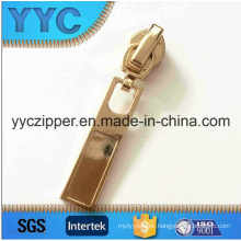 5# Nylon Auto-Lock Slider with Shining Gold Color