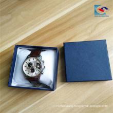 Top quality custom rigid cardboard watch packaging box With Sponge Cushion