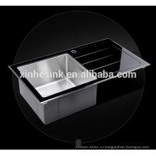 Закаленное стекло из нержавеющей стали Кухонная раковина промо-закаленное стекло Нержавеющая сталь раковина(ZB20)