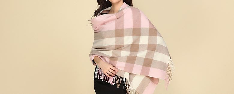 90% Wool 10% Cashmere Woven Throw -6