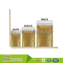 Strong Self Adhesive Seal Glossy Metallic Air Bubble Express Packaging Custom Gold Mail Bag