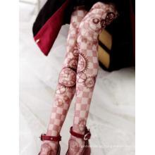BJD Socks Lady Printed High Stockings Boneca SD / MSD