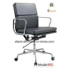 Eames Modern Office Leather Meeting cadeira de computador giratória (RFT-B01)
