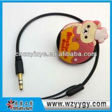 Lindo organizador de cable promocionales pvc suave de la fábrica