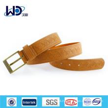 Fashion Embossed Mens Brown Belts