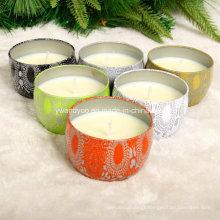 Bougies parfumées de cire de soja de nature