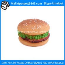 Latex Hamburger Toy for Pet Dog