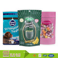 Custom Printed Round Bottom Resealable Plastic Stand Up Zipper Pouch For Coffee/Tea