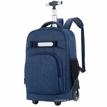 Blue wheeled backpack trolley travel business backpack trolley man bag laptop Backpack with wheels