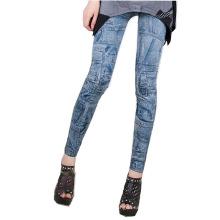 Blue Print Pants Trousers Leggings