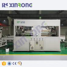High speed plastic pe pipe extrusion cutting machine line