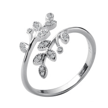 Custom Cheap 925 Sterling Silver Opening Ring For  Wedding Jewelry Adjustable Antique Finger Ring