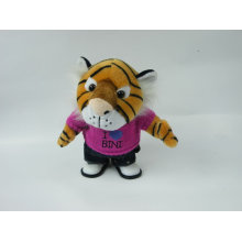 Электрические игрушки плюшевого тигра