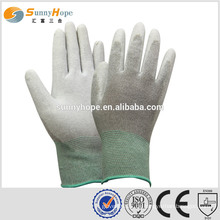 Sunnyhope geschnittene 13 Gauge Carbon Fiber grau Pu beschichtete Handschuhe