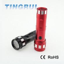 Vente chaude en aluminium rouge noir coloré mini 14 Led lampe de poche