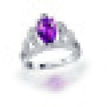 Handmade 1.80CT Pear Cut Natural Purple Amethyst Crown Rings 925 Sterling Silver for Women Engagement Fine Jewelry