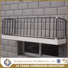 Barandilla revestida de acero galvanizado del acondicionador de aire