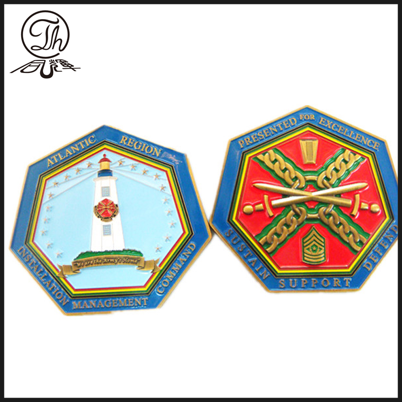 Moneda de la unidad de desafío de Hexagon Atlantic region