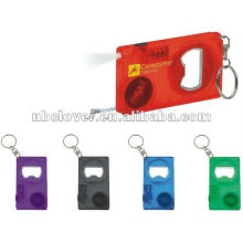 led tape measure keychain with bottle opener function