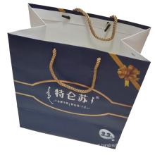 Saco de papel impresso para compras e a embalagem de presente