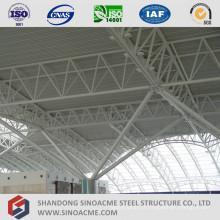 Centre terminal de structure en treillis de tuyaux en acier