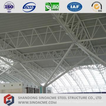 Centro de terminais de estrutura de treliça de tubos de aço