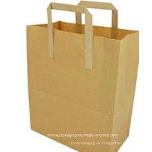 Bolsa de papel de compras con papel reciclado