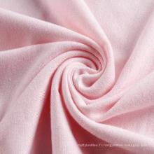 Tissu à tricoter polyester spandex jersey rose personnalisé