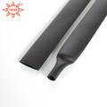 Высокая температура 8мм черный клей выстроились термоусадочные трубки