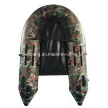 Militar verde PVC inflable del barco para la pesca