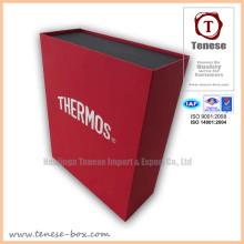 Boîte cadeau à l'emballage rectangulaire de mode avec logo feuilletant