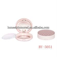 Elegante mini pó compacto redondo design para embalagem de maquiagem