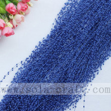 Sapphire Purple Color Artificial Faux Pearl Trimming Beaded Garland
